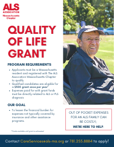 Quality of Life Grant Flyer 2021
