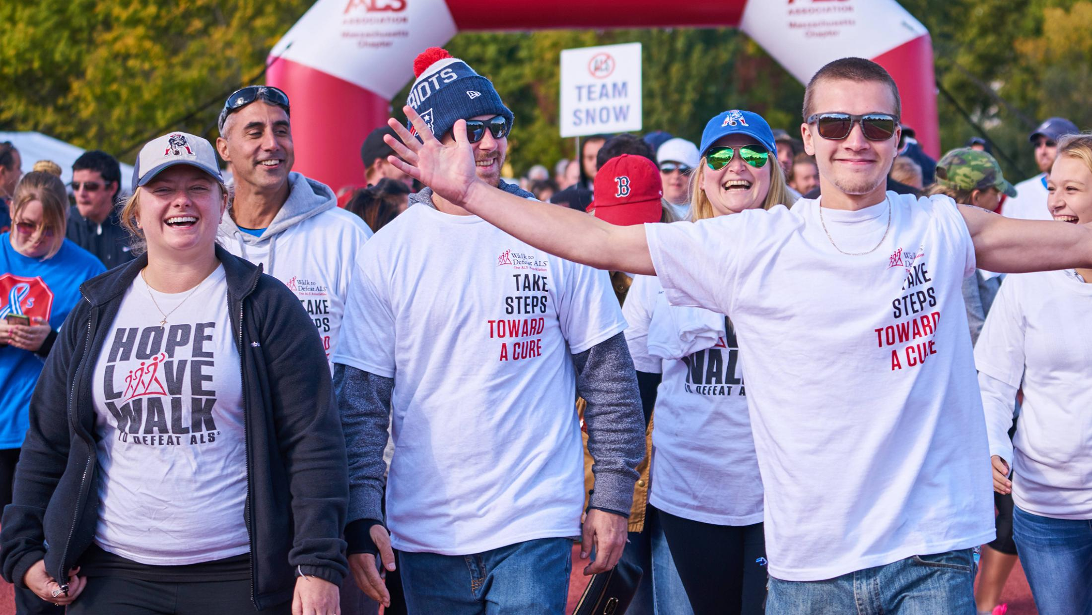Walkers at a Walk to Defeat event