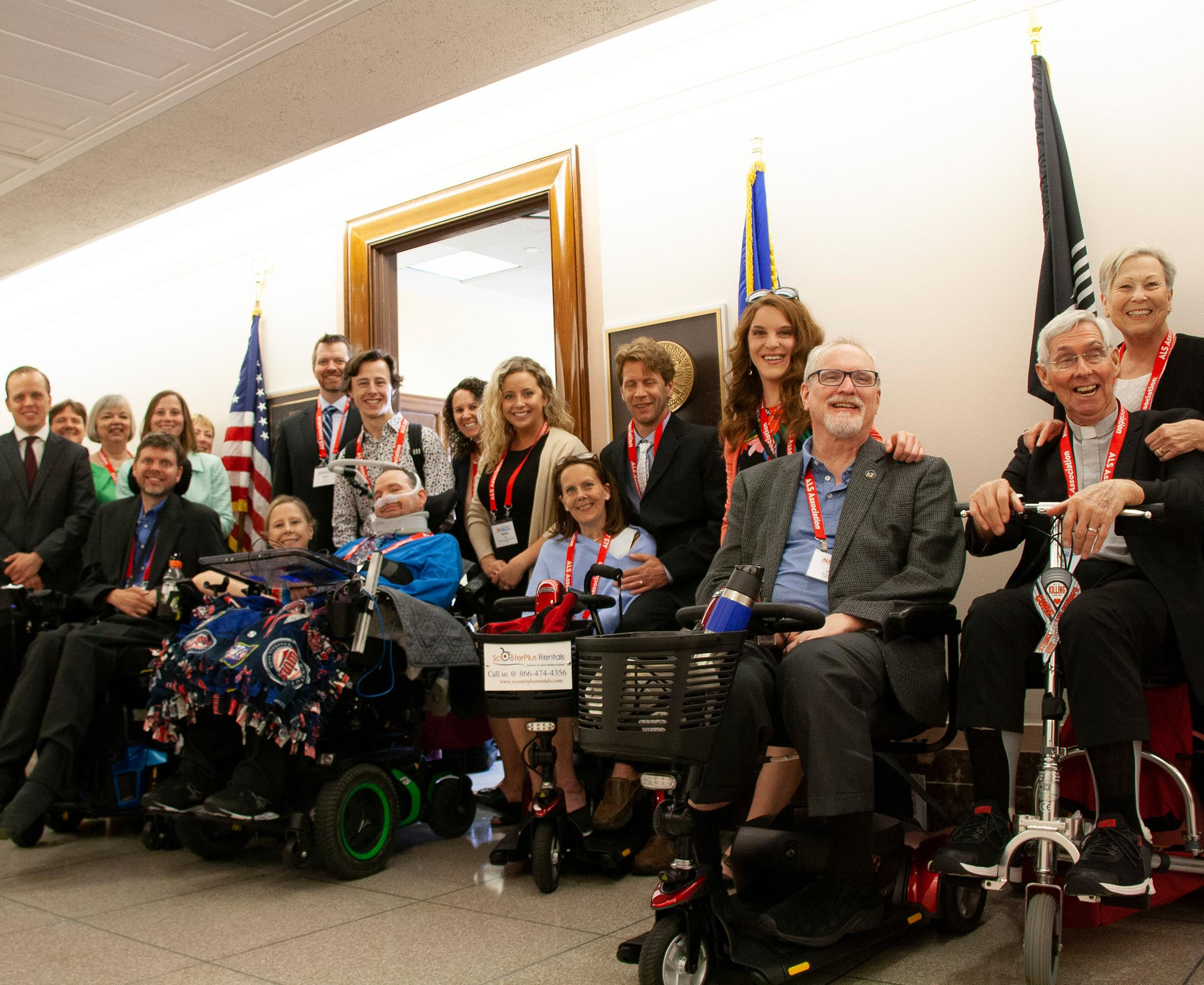 Group of advocates in the Senate building