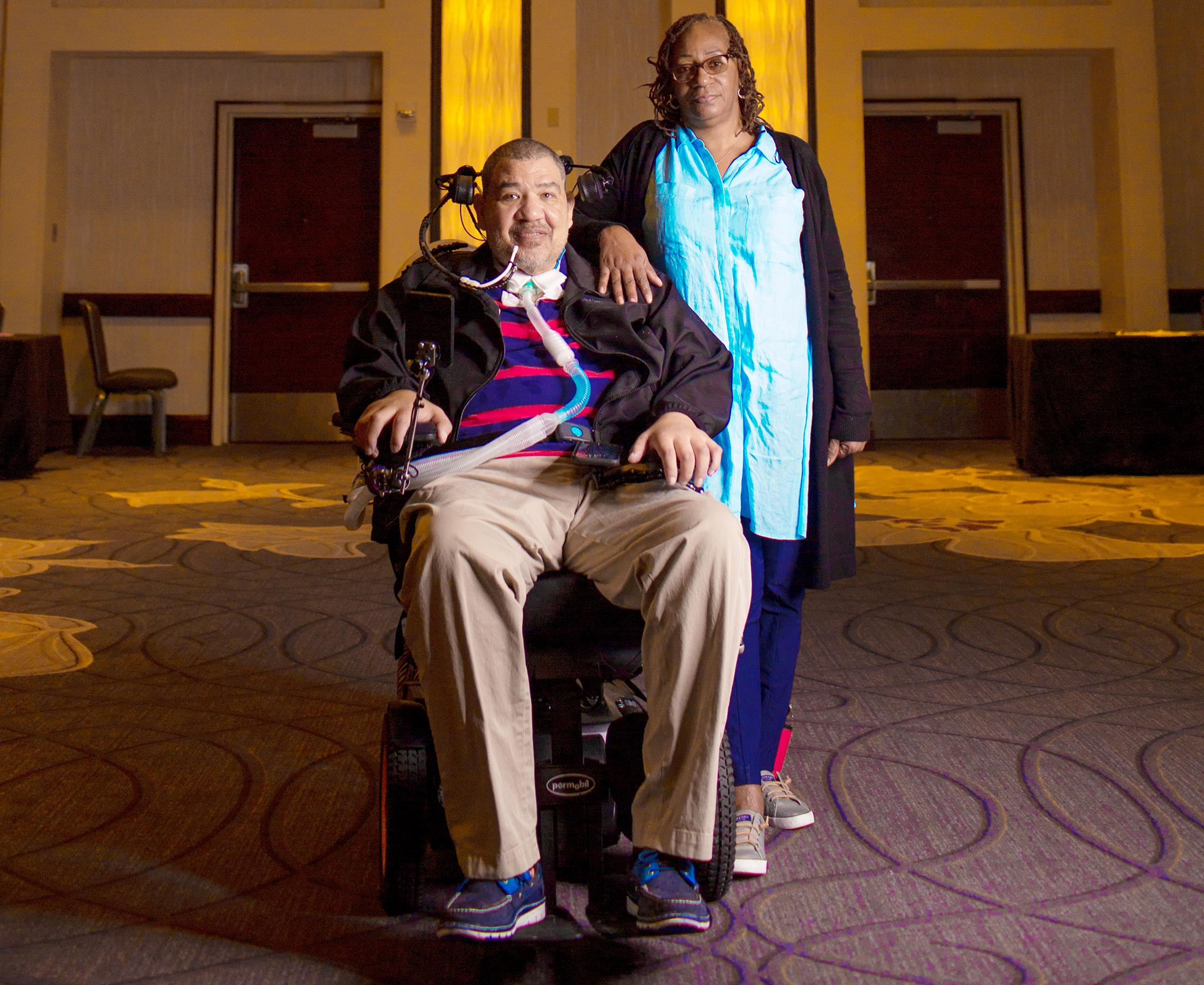 Person with ALS and his wife