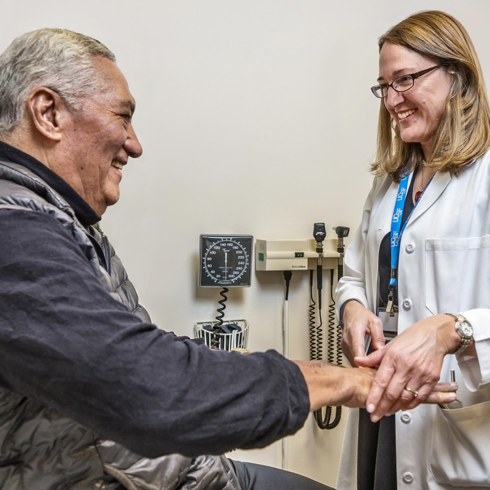 Patient talking with Doctor